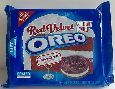 Nabisco OREO Red Velvet Cream Cheese Flavored Creme sandwich Cookies
