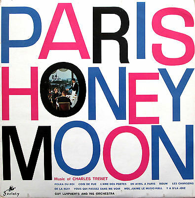 Paris Honeymoon Music Of Charles Trenet Guy Lauypaerts & Orchestra Vinyl LP