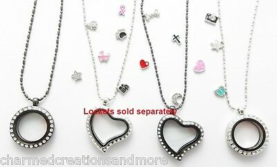5pc Wholesale Lot Of Floating Charms For Glass Memory Locket Necklace
