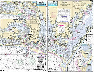 Fishing Map Morehead to Cape Lookout, NC MCL338-BC Central Atlantic