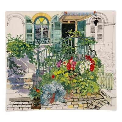 NEW Gien Paris a Giverny Large Square Plate