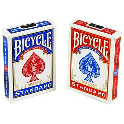 2 x Brand New BICYCLE Playing Cards - Made in USA - Poker | 1 x Blue - 1 x Red