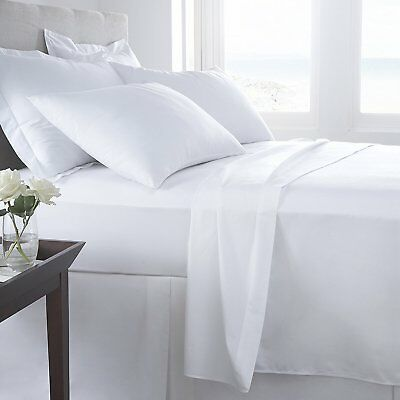 100% Egyptian Cotton 400 TC Fitted Sheet or Flat Sheet or Pillow Cases All Sizes