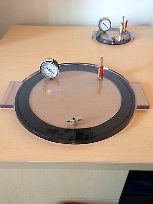 "1 Gal Vacuum Chamber Lid 8"" Diameter Polycarbonate Complete And Ready Degassing"