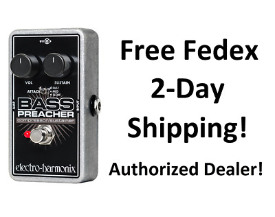 New Electro-Harmonix Bass Preacher Bass Guitar Compressor Sustainer Pedal!