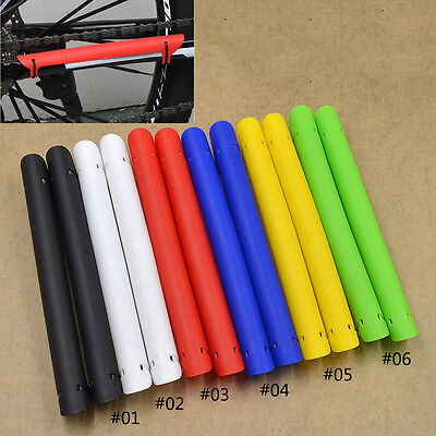 Bike Bicycle Chain Protector Chain Chainstay Rubber Cover Guard Multi-Color 2pcs