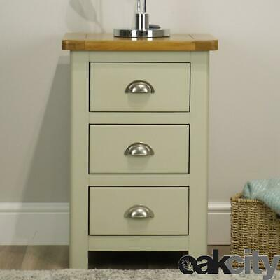 Aspen Oak Bedside Table / Painted Bedside Cabinet / Sage Grey Solid Wood