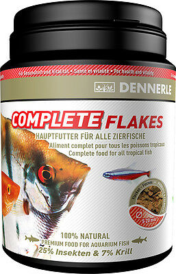 Dennerle Premium Fish Food: Complete Gourmet Flakes 1000ml for All Fish BULK