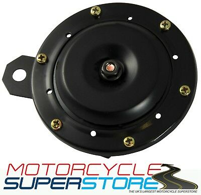 UNIVERSAL LOUD REPLACEMENT 12v MOTORCYCLE MOTORBIKE BLACK HORN 110db