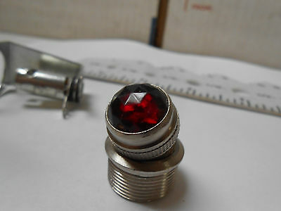 322-0069  Dialco Lenth 1.8/bulb T-3 1/4 /red Faceted Convex Lens   New Old Stock