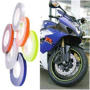Motrax Wheel & Motorcycle Reflective Stripes 5mm Fluorescent Yellow BC19962 - T
