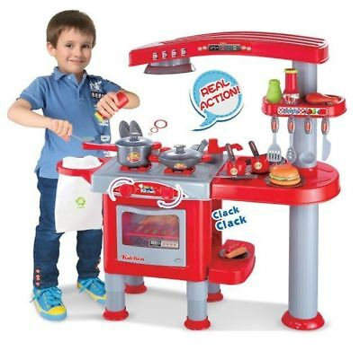 69PC Large Childrens Kids Kitchen Cooking Role Play Pretend Toy Cooker Oven Set