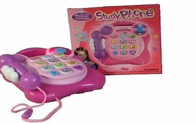 Kids Musical Telephone Study Phone Interactive Educational Children Toy