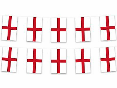 England English St George Bunting Garland Pennant Flag 5m Polyester Fabric Footy