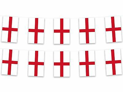 England St George Bunting 5m 12 Bunts 100% Polyester Euro 2016