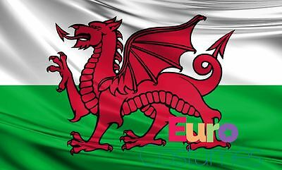 Large Wales Welsh Dragon Flag 5ftx3ft/1.5mx90cm Polyester Fabric St David Sport