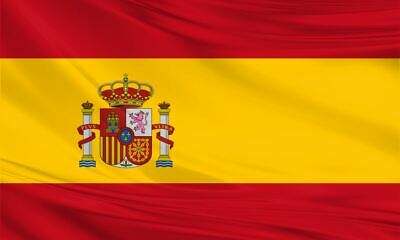 Giant Spanish Spain Flag 8ft x 5ft / 2.5m x 1.5m Polyester Fabric Football Sport