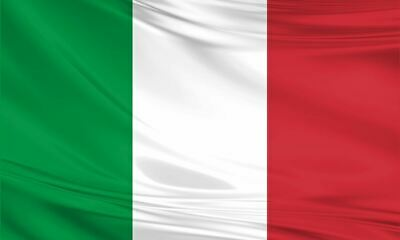 Italy Italian Giant Flag 8ft x 5ft / 2.5m x 1.5m Polyester Sport Football Rugby