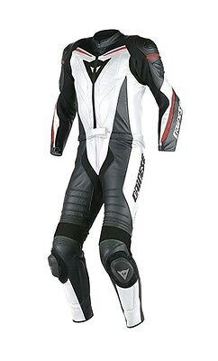 Leather Suit 2 Pieces Dainese Laguna Seca D1 White Size 52