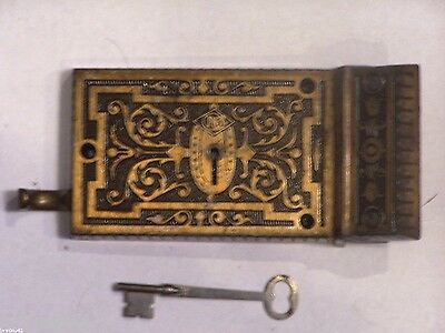 Antique Rusell & Erwin Rim Lock With Key