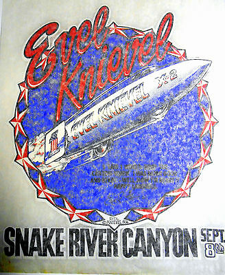 "Vintage 1974l Evel Knievel ""Snake River Canyon-Sept 8th"" Iron-on Transfer"