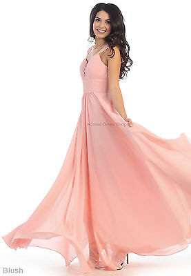 EMPIRE WAIST BRIDESMAIDS EVENING GOWN PROM FLOWY FORMAL LONG DRESS MAID of HONOR