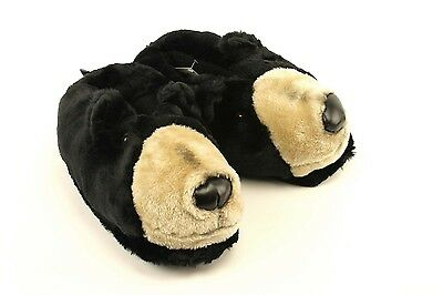 Black Bear Head Slippers - Animal Slippers - Adult & Kids Sizes In Stock