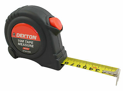 10m Metric Only Measuring Tape Retractable Impact Resistant Case Belt Clip