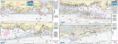 Fishing Map South Coast of Long Island, NY SLI107-BC  N. Atlantic