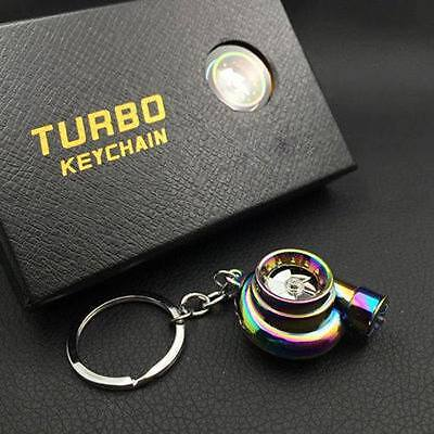 HWY OFFICIAL Battery-Operated Neo Chrome Turbo Keyring With LED + Sounds