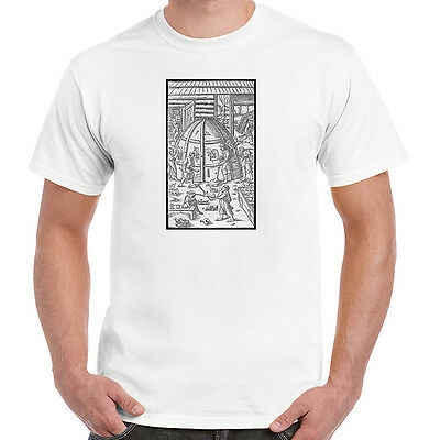 Glassblowers at Work in 16th Century, Glasswork T-Shirt, All Sizes, Styles, NWT