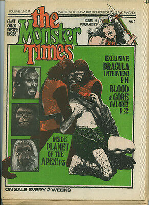 MONSTER TIMES June 1972 Vol 1 #11: PLANET OF THE APES Conan DRACULA No RESERVE!