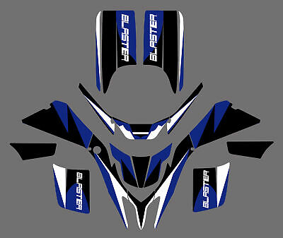 DECALS STICKERS GRAPHICS For YAMAHA BLASTER YFS200 1988-2006 BLUE/BLACK