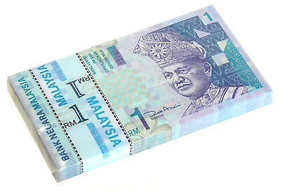 MALAYSIA 1 RINGGIT ND 2000 P 39 UNC (Bundle 100 Notes)