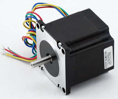 Nema 23 Stepper Motor 1,3Nm 185oz-in Shaft 6.35mm for CNC Mill Lathe Driver