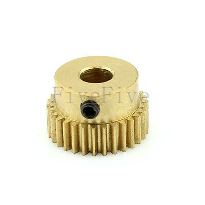 0.5M30T 3/4/5/6mm Bore Hole Width 5 Module 0.5 Motor Metal Spur Gear + Screws