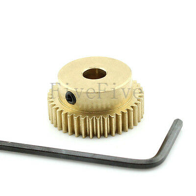 0.5M40T 3/4/5/6/8mm Bore Hole Width 5 Module 0.5 Motor Metal Spur Gear + Screws