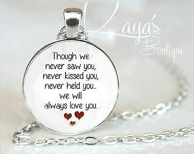 925 Silver Plt Miscarriage *Memorial* Baby Loss Necklace Pendant *Keepsake Gift*