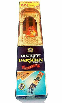 Bharath Darshan Incense Sticks LG Box 100g-approx 70-80 sticks SHIPPED UNBOXED