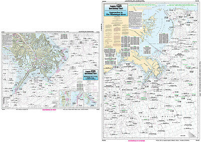 Fishing Map Mississippi River Approaches and Delta MAD50-BC Gulf of Mexico