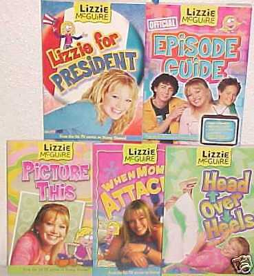 NEW LIZZIE MCGUIRE duff TOY LOT hilary BOOK SET TOYS
