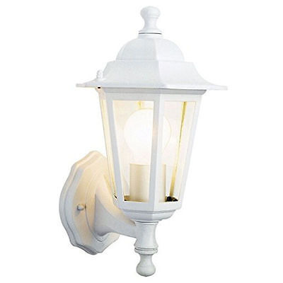 Outdoor traditional 6 sided coach lantern die-cast alum in white