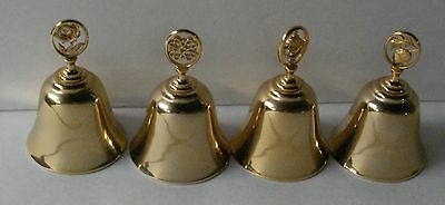 4 Avon Collectible Brass Bells - Avon Representatives Sales Award