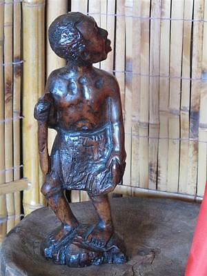 Old African Petrified Hardwood Carving  …interesting collectors piece