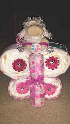 Adorable Butterfly Diaper Cake, New Born, Baby Shower Gift, Cake, Gift, Party