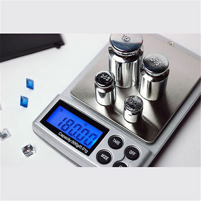 500g x 0.01g Digital Pocket Scale Gold Silver Jewelry Weight Balance Tool Device