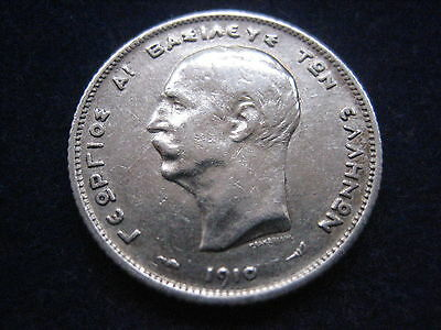 """Mds Griechenland 1 Drachme 1910 """"georg I."""", Silber"""