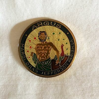"Argus Cloisonne Doubloon 1984 Full Size 1.5""d Excellent Condition !"