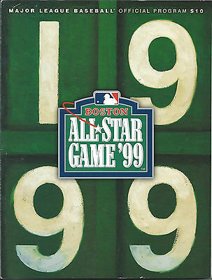 MLB & Boston Red Sox  1999 Baseball All-Star Game  Boston  Official Program