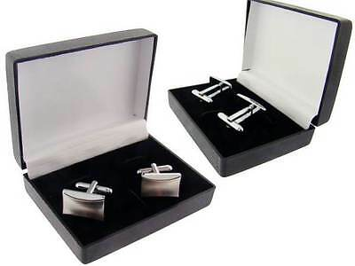 "MAT FINISH STAINLESS STEEL CUFFLINKS FACE MEASURES 3/4"".With  JEWELRY GIFT BOX"